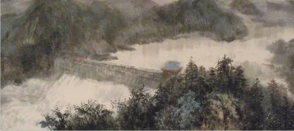 《新富春山居图》局部之一:千岛湖新安江大坝