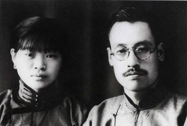 青年时代的董寿平与夫人刘延年