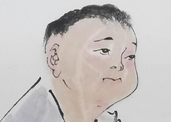 范曾国画作品局部图-1