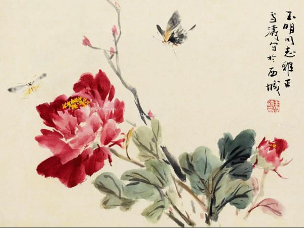 0171 牡丹蝴蝶