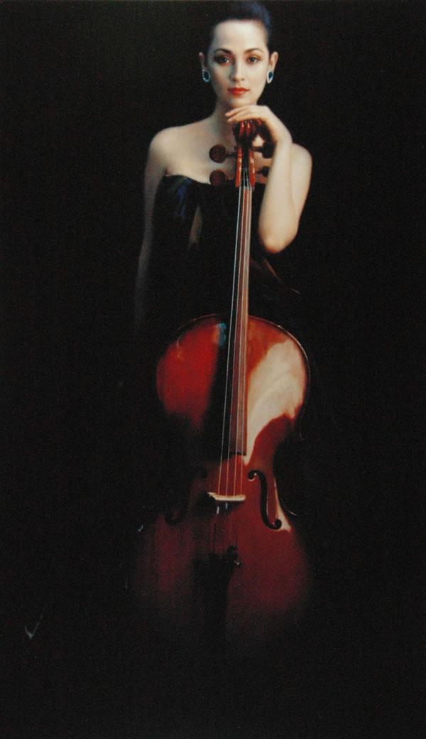 陈逸飞 大提琴少女