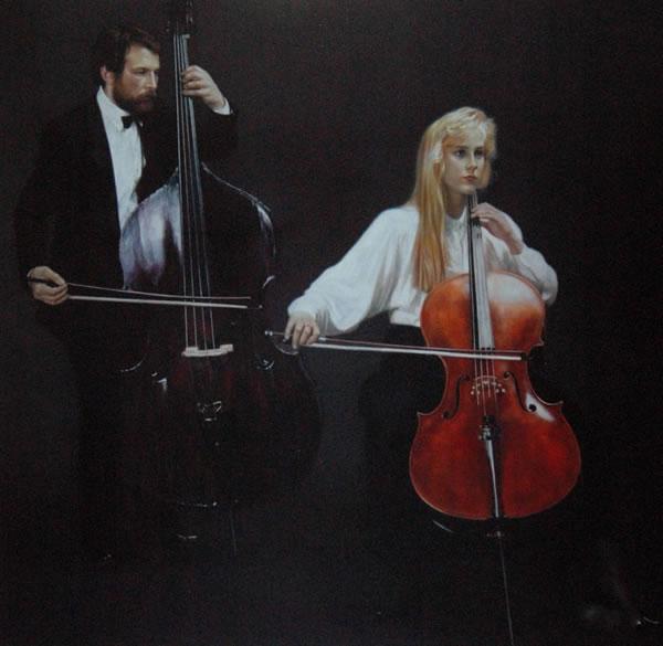 陈逸飞 中提琴和大提琴手