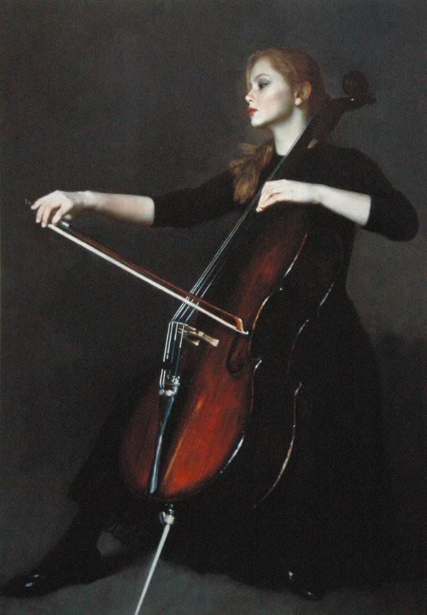 陈逸飞提琴手