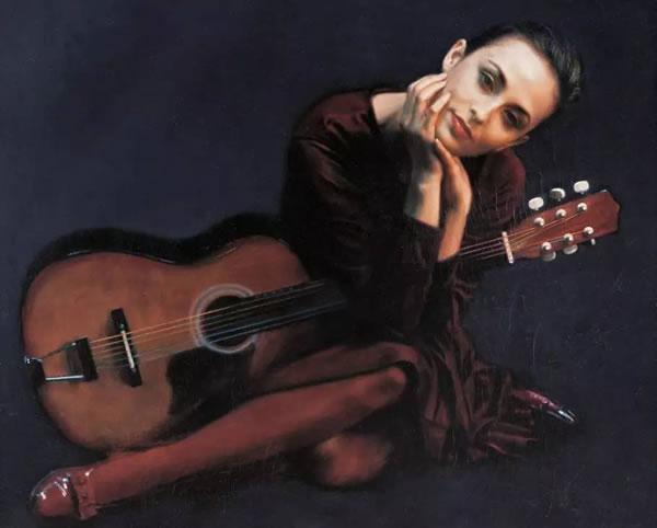 陈逸飞 女人与吉他