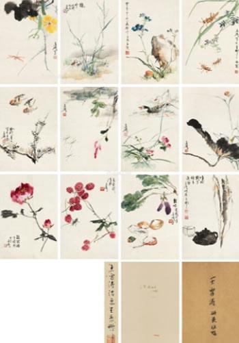 0326 花卉 册页 (十二开)