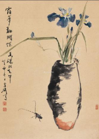 0333 1963年作 蝴蝶兰