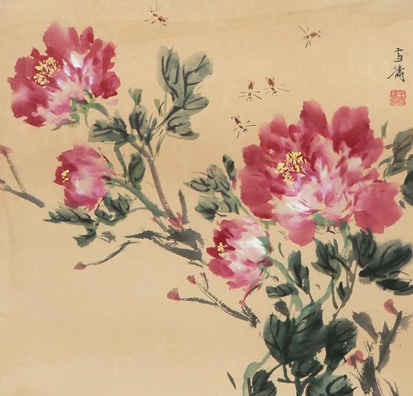 王雪涛国画牡丹-1