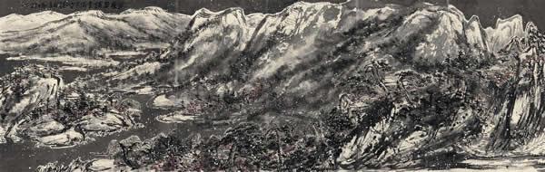 崔如琢画作《万里平铺雪满天》