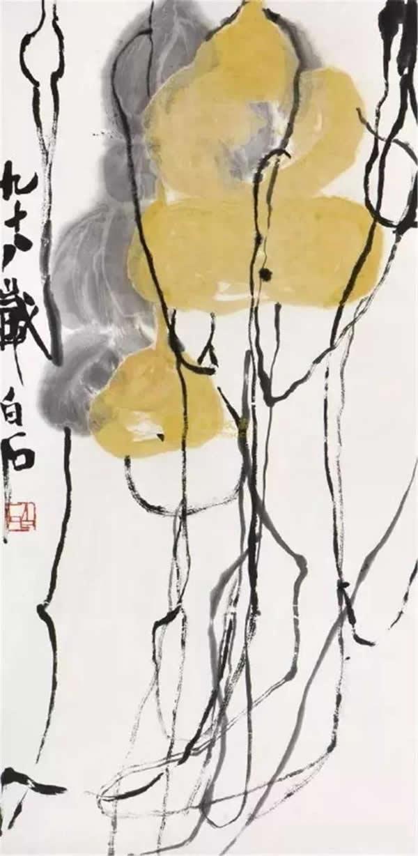 《葫芦》 立轴 设色纸本68×33.3cm