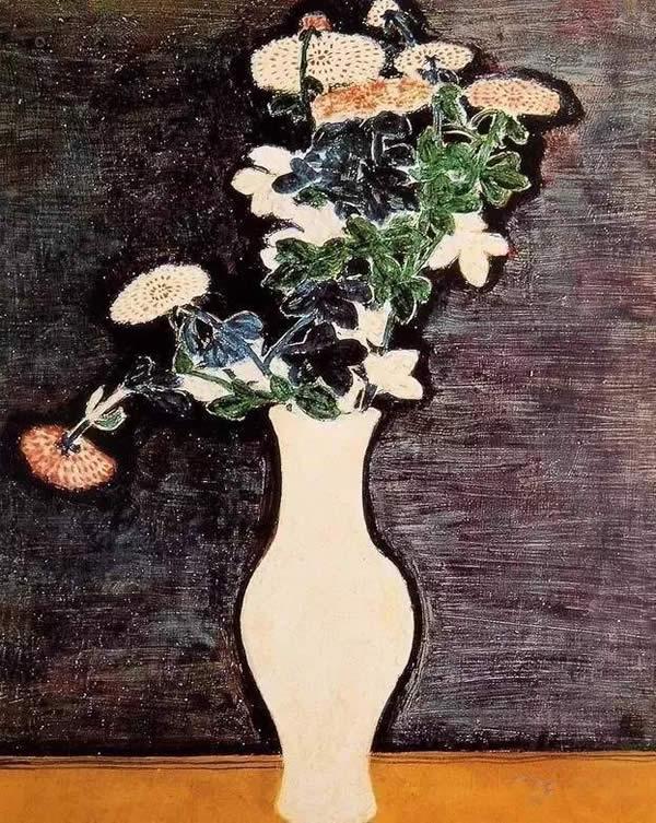 ▲常玉·花卉 《瓶菊》 1940年作