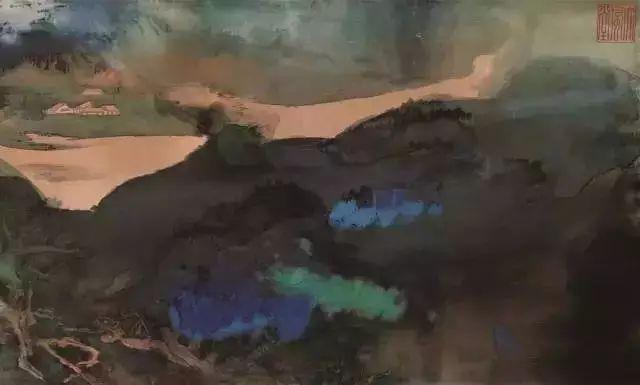 张大千《爱痕湖》