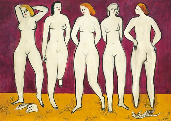 《五裸女》