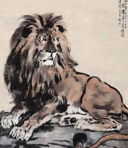 徐悲鸿 醒狮