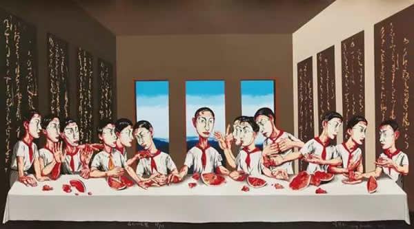 曾梵志《最后的晚餐》