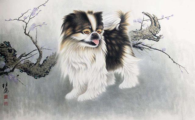 刘继彪画狗