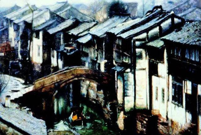 陈逸飞江南水乡系列风景油画欣赏