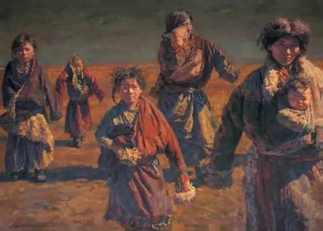 陈逸飞 霞飞路上(2004)