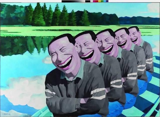岳敏君 在湖上
