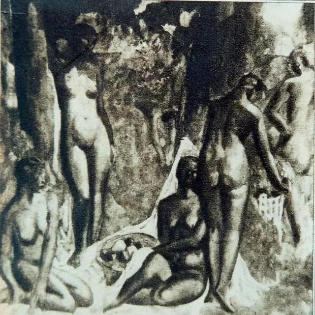 吴大羽 构图 布面油彩 约1932年