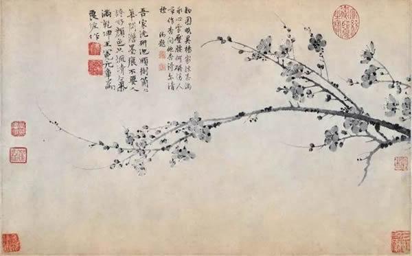 庞元济旧藏王冕《墨梅图轴》
