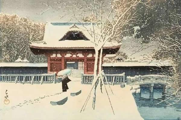 浮世绘,也就是日本的风俗画,版画。
