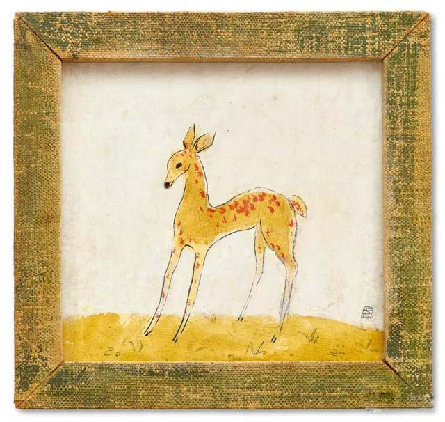 常玉作品小鹿