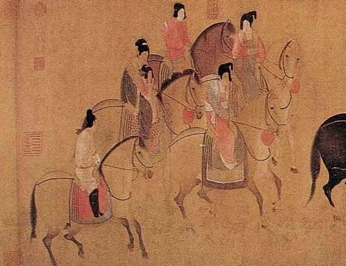 中国十大名画之唐·张萱、周昉《唐宫仕女图》