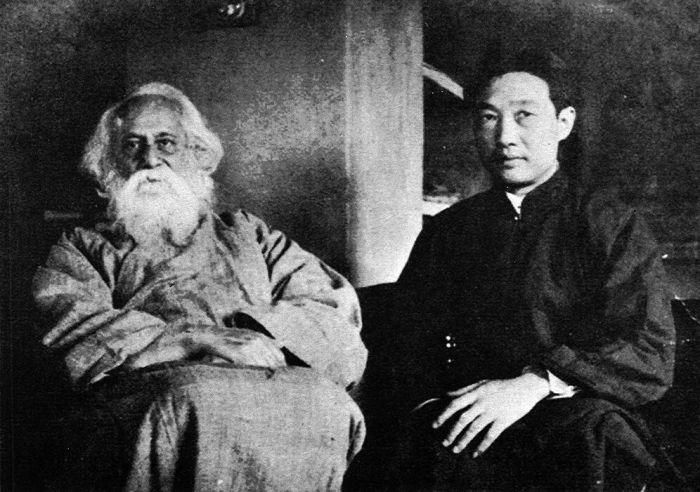 1940年6月徐悲鸿寄给黄孟圭与泰戈尔合影的照片