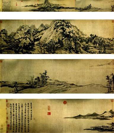 中国十大传世名画之元·黄公望《富春山居图》