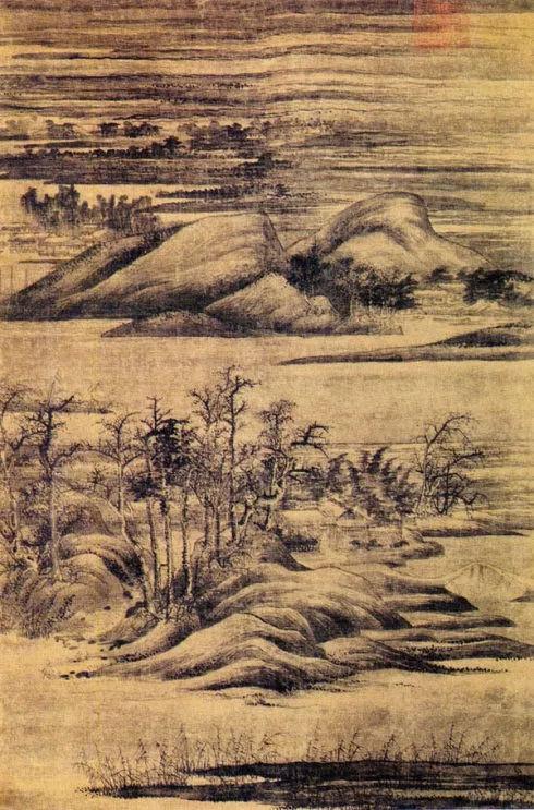 董源 《寒林重汀图》端方收藏 现藏于日本黑川古文化研究所