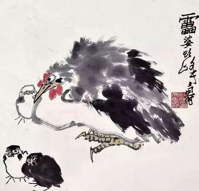 潘天寿 抱鸡图 158.9万