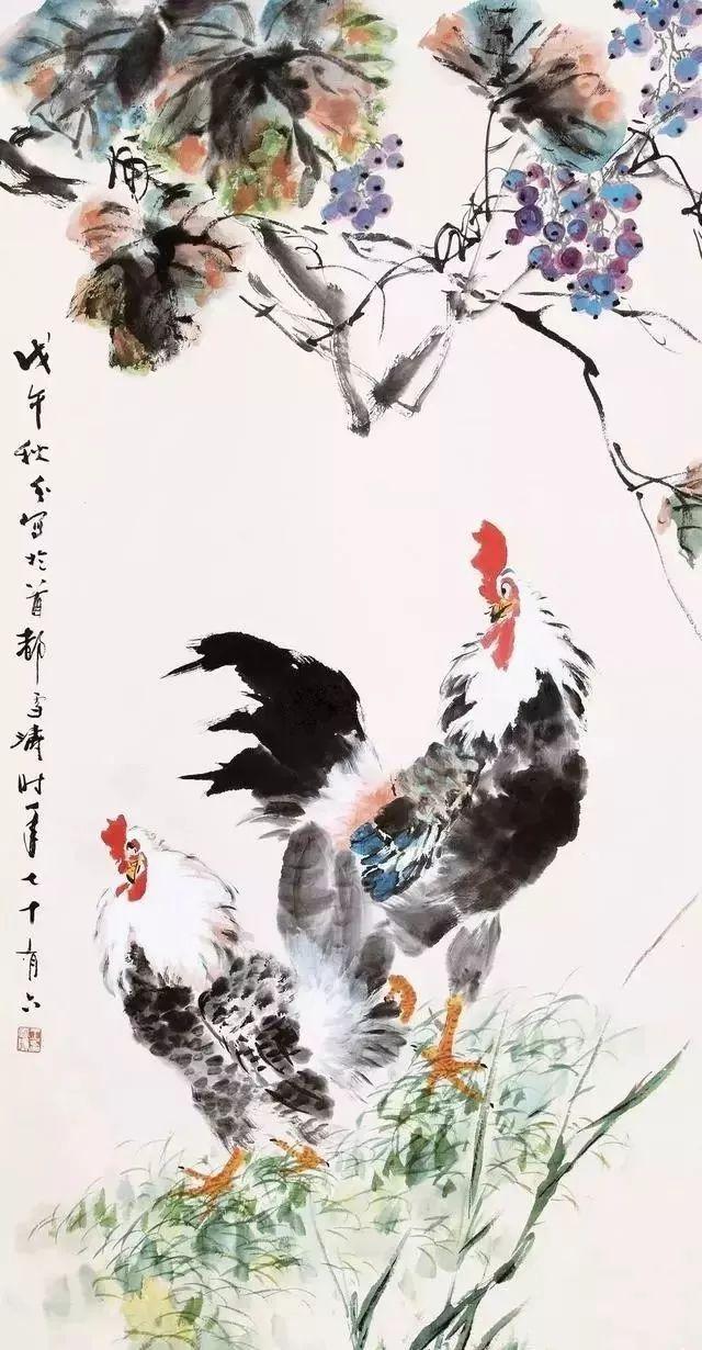 王雪涛 葡萄双鸡 1978年作 179.2万