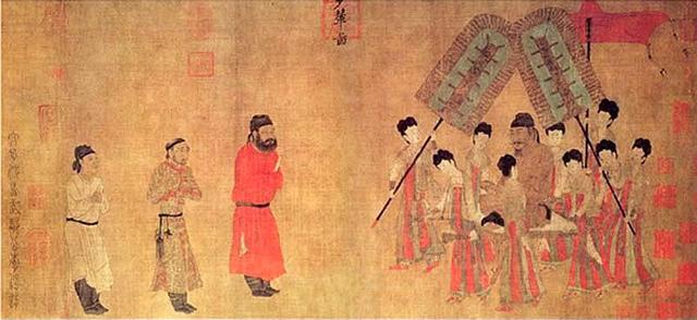 中国十大传世名画之一 阎立本步辇图赏析