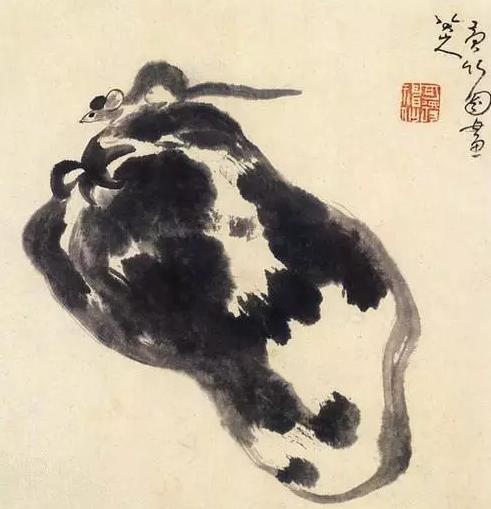 八大山人(款)《瓜鼠图》日本泉屋博古馆藏