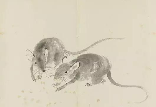 徐悲鸿《十二生肖册》之《老鼠》