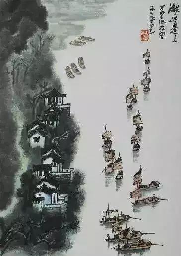 李可染《漓江边上》1979年作
