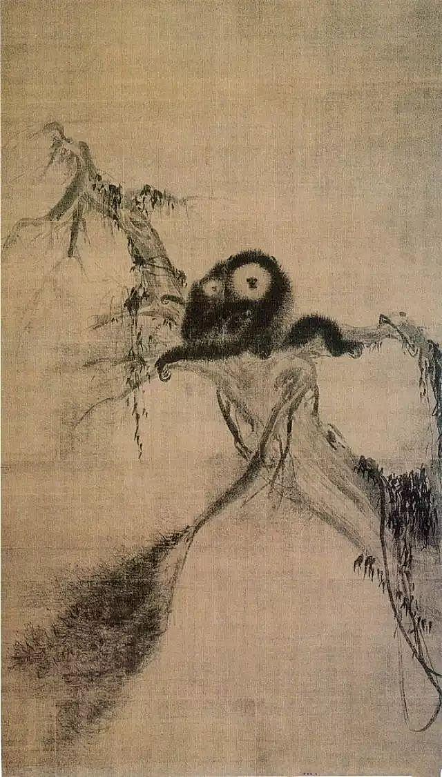 《松猿图》 日本东京大德寺藏