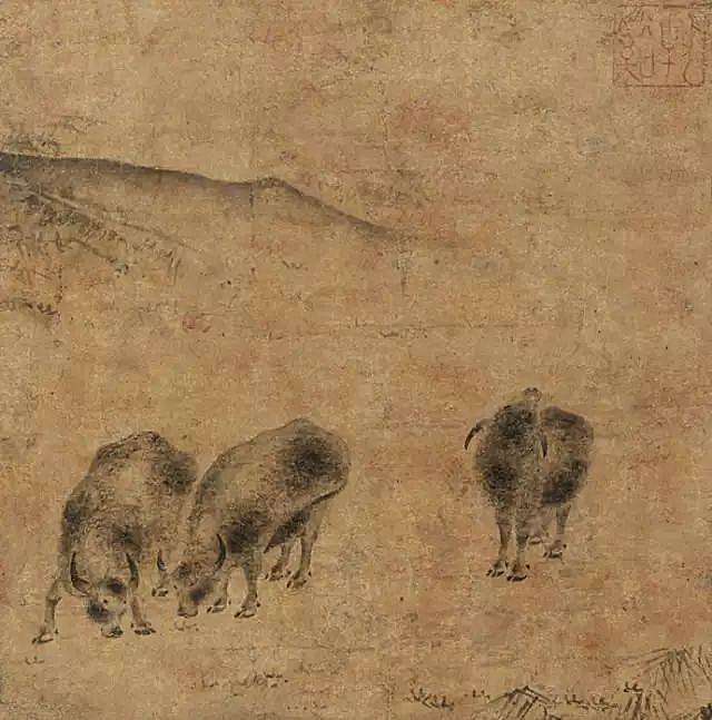 《三牛图》 日本私人美术馆藏