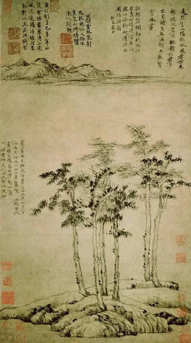 《六君子图》 上海博物馆藏