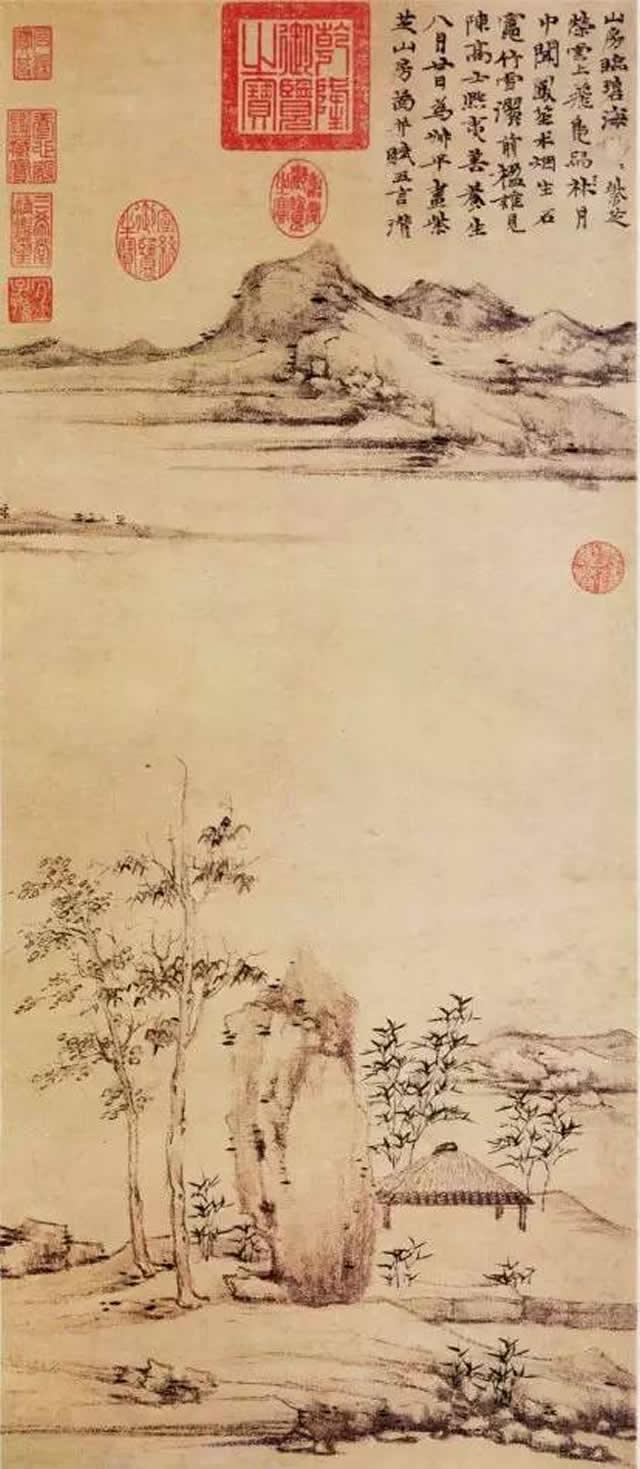 《紫芝山房图》 台北故宫博物院藏