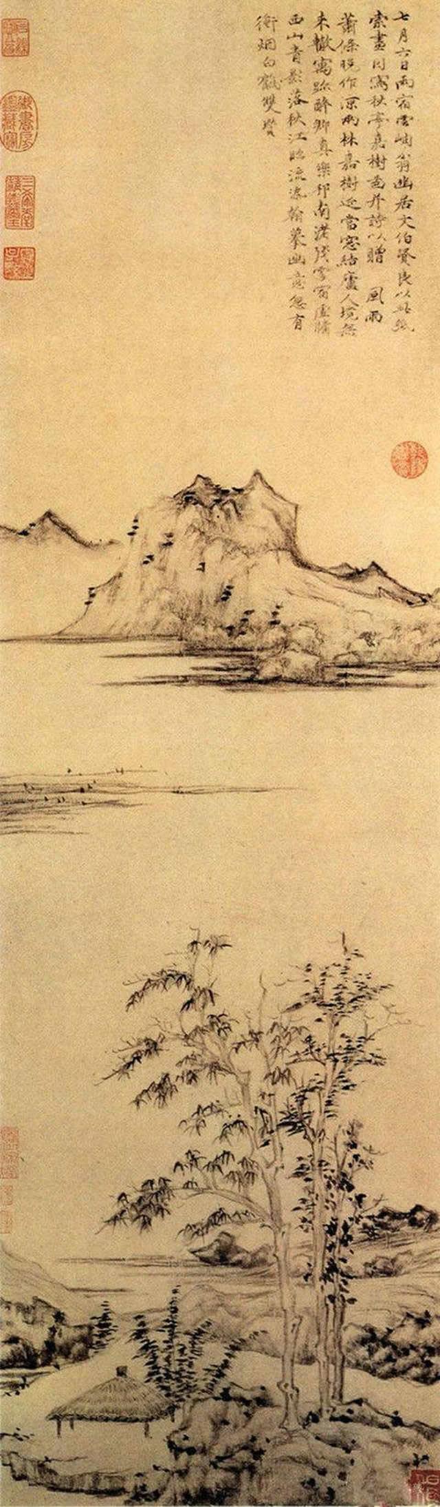 《秋亭嘉树图》
