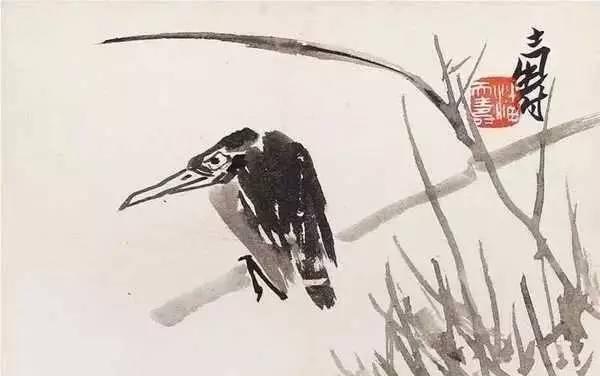 潘天寿《鸟》