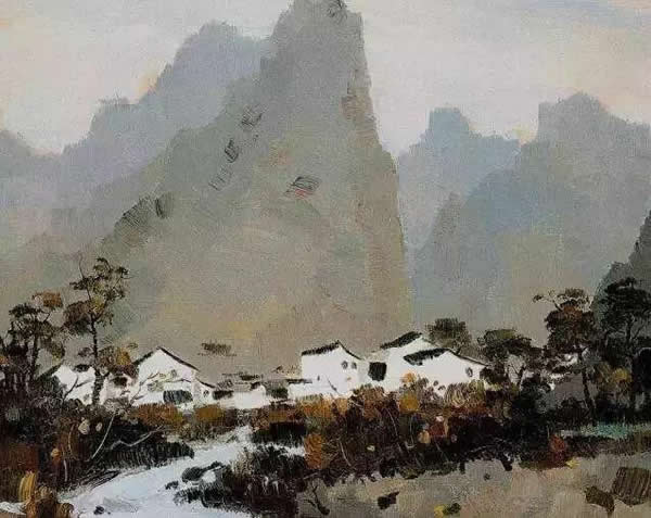 吴冠中 桂林山居 布面油彩 1978