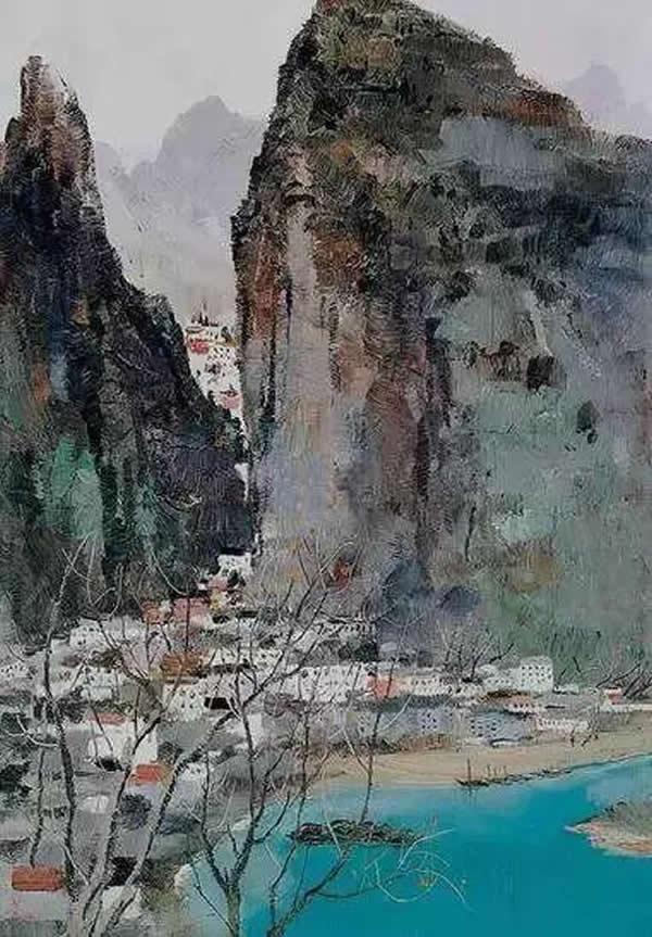 吴冠中 桂林景色