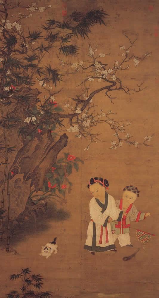 《冬日婴戏图》 (传)宋苏汉臣 台北故宫博物院藏