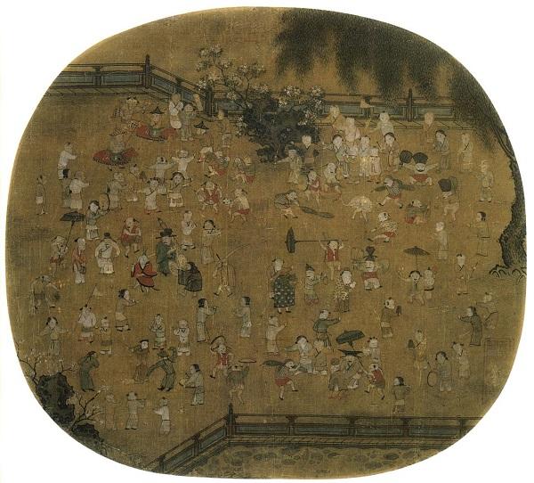 《百子图》 宋 佚名 美国克利夫兰美术馆藏