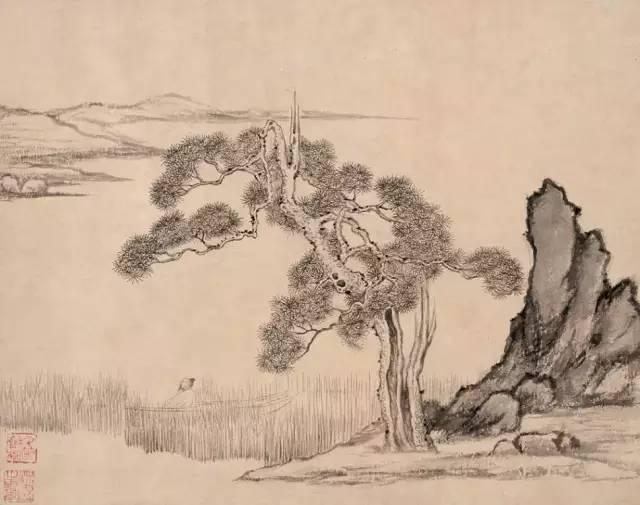 秋溪渔隐图