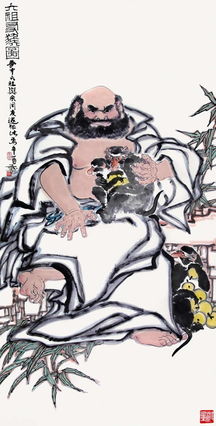六祖友猴图