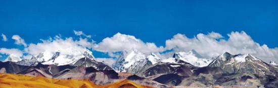 喜马拉雅山实景图