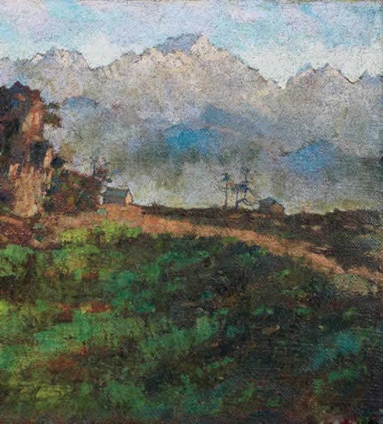《喜马拉雅山全景》局部